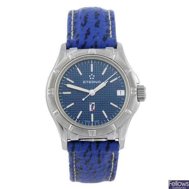 ETERNA - a gentleman's stainless steel Pininfarina wrist watch.