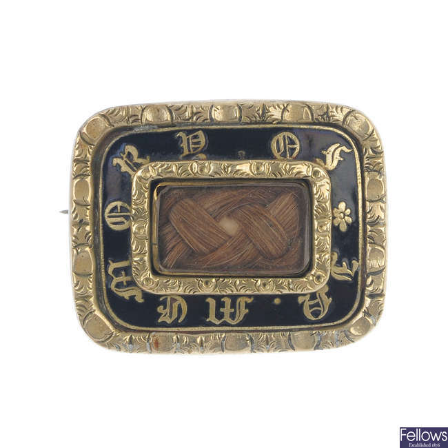 A mourning brooch.