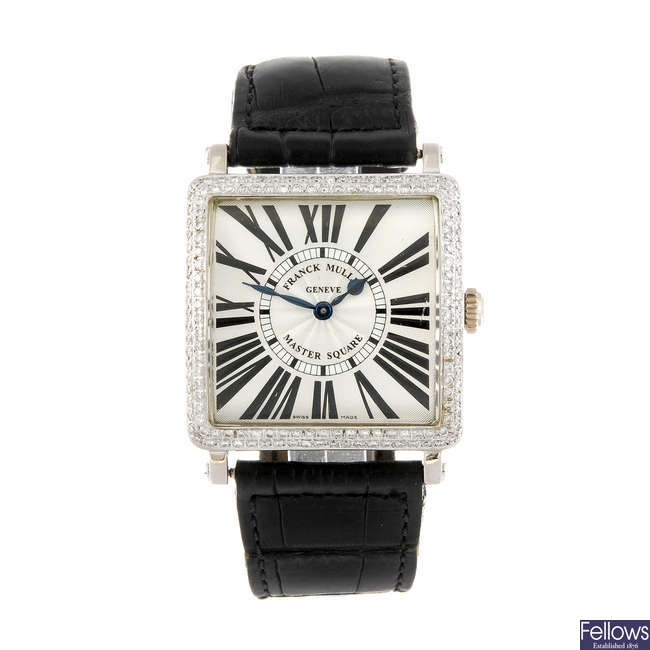FRANCK MULLER - an 18ct white gold Master Square wrist watch.