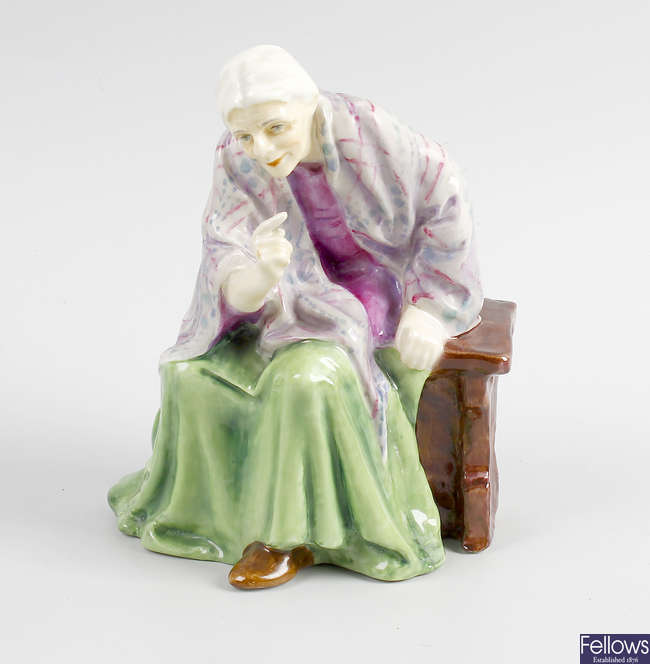 A rare Royal Worcester group, 'Mother Machree'.