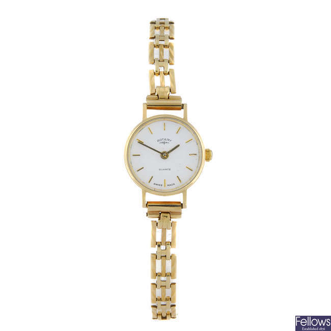 (14039) ROTARY - a lady's 9ct yellow gold bracelet watch.