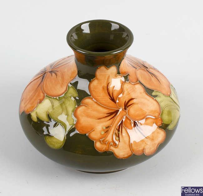 A Moorcroft pottery vase.