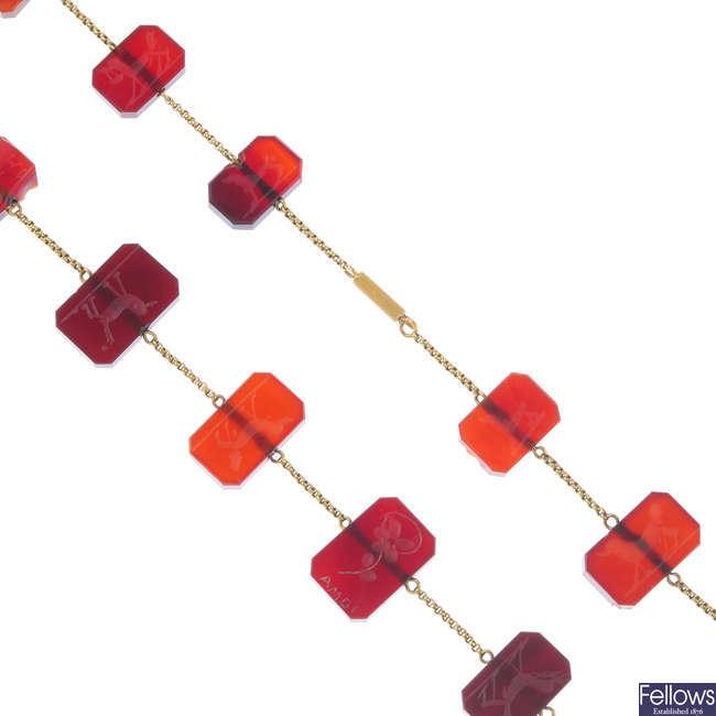 An intaglio necklace.