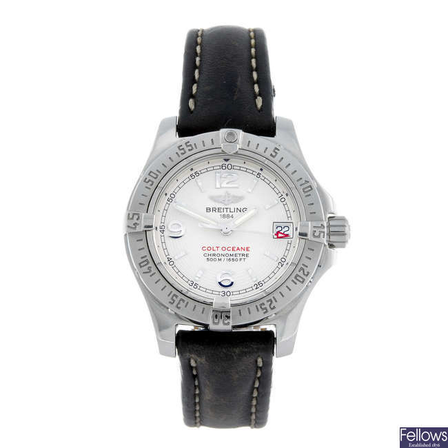 BREITLING - a lady's stainless steel Aeromarine Colt Ocean wrist watch.