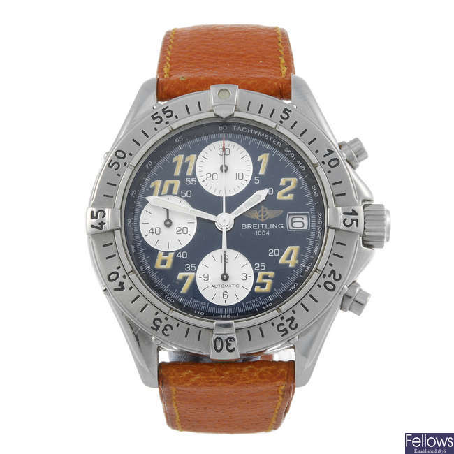 BREITLING - a gentleman's stainless steel Colt Chrono chronograph wrist watch.