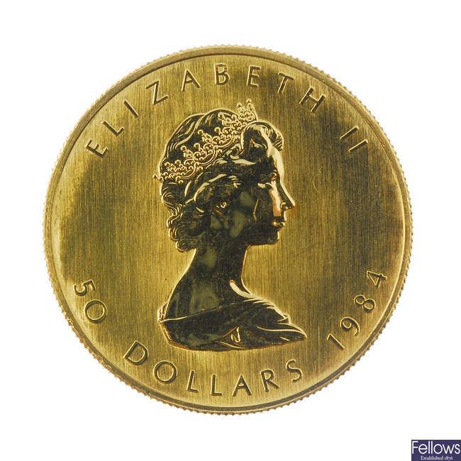 Canada, Elizabeth II, 50-Dollars 1984.
