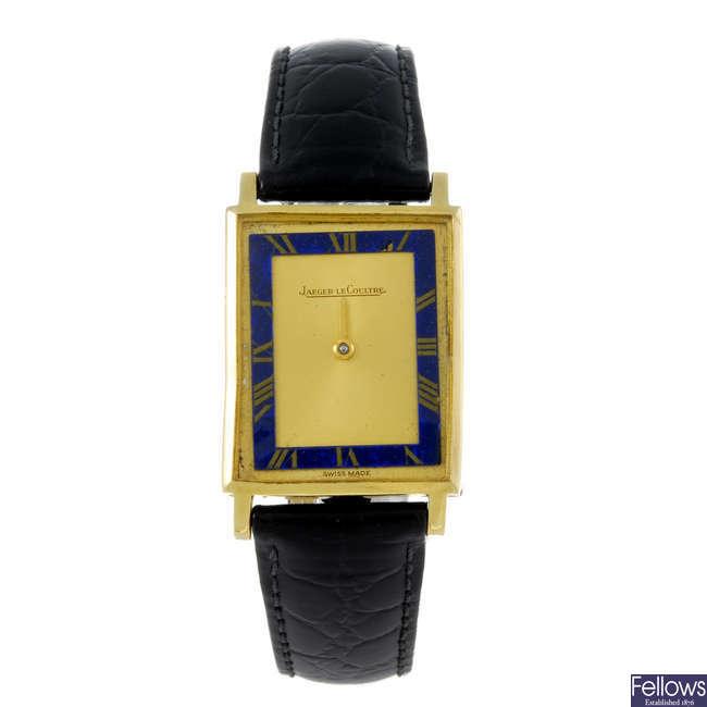 JAEGER-LECOULTRE - a gentleman's 18ct yellow gold wrist watch.
