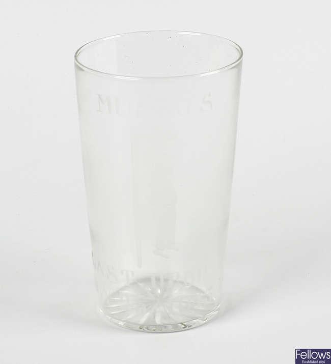 World War II interest: A glass beaker.