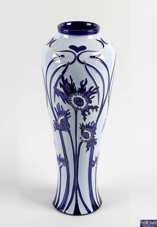 A modern Moorcroft pottery vase.