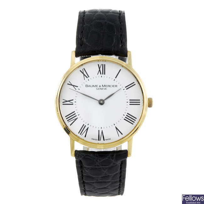 BAUME & MERCIER - a gentleman's 18ct yellow gold Classima wrist watch.