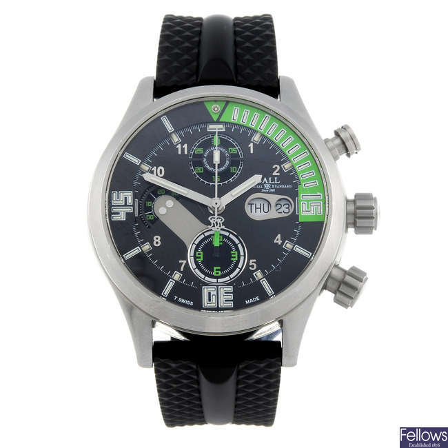 BALL - a gentleman's stainless steel Engineer Master II Diver chronograph wrist watch.
