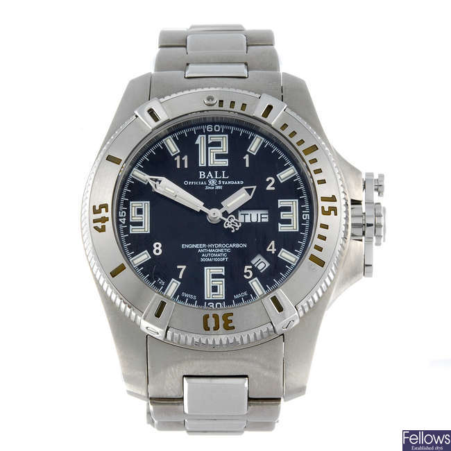 BALL - a gentleman's stainless steel Engineer Hydrocarbon bracelet watch.