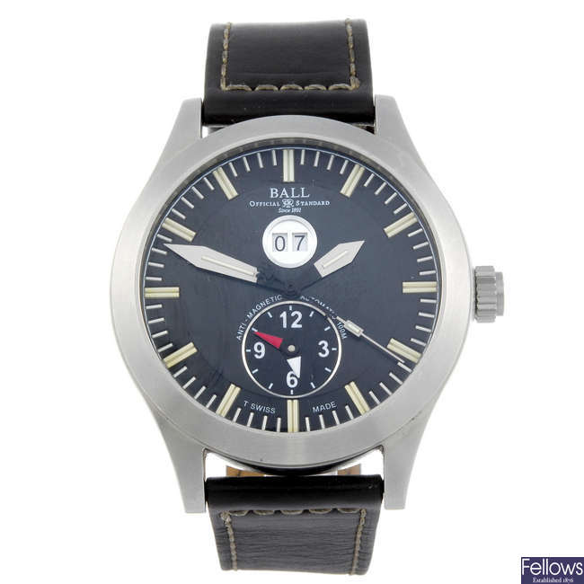 BALL - a gentleman's stainless steel Engineer Master II Aviator Dual Time wrist watch.
