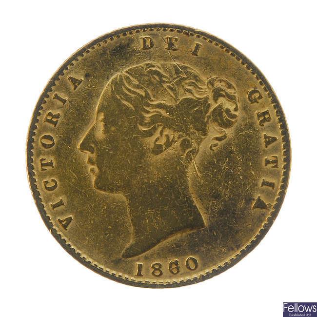 Victoria, Half-Sovereign 1860.