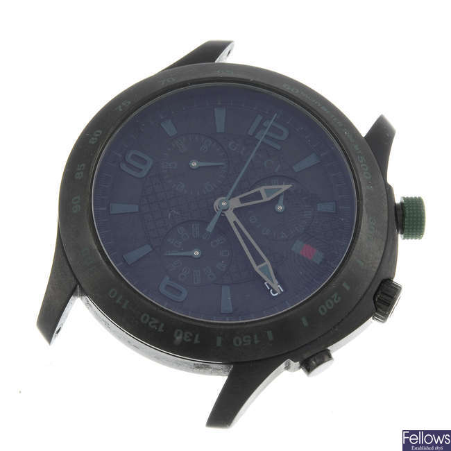 GUCCI - a gentleman's PVD treated stainless steel 126.2 chronograph wrist watch.