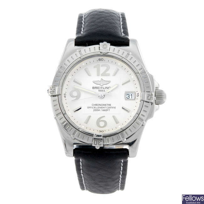 BREITLING - a lady's stainless steel Callisto wrist watch.