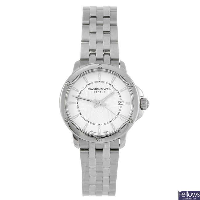 RAYMOND WEIL - a lady's stainless steel Tango bracelet watch.