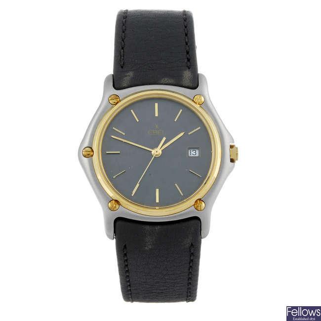 EBEL - a mid-size bi-metal wrist watch.
