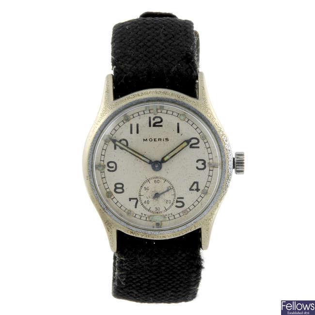 MOERIS - a gentleman's base metal military issue wrist watch.