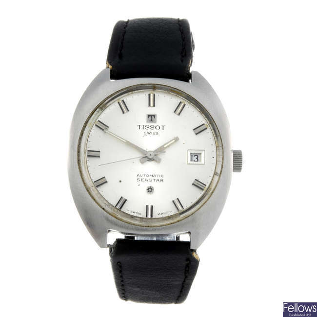TISSOT - a gentleman's stainless steel Seastar wrist watch.