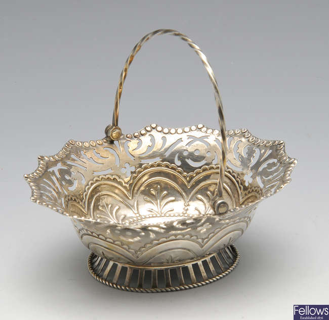 An early George III sweet-meat basket.
