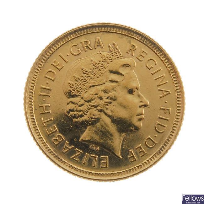 Elizabeth II, Half-Sovereign 2000.