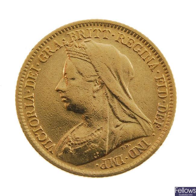 Victoria, Half-Sovereign 1899.