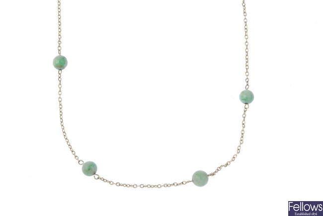 A jade necklace.