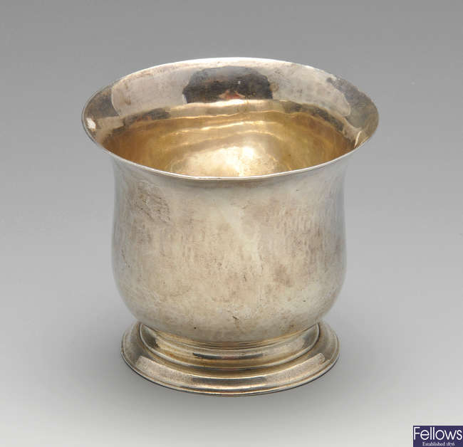 An early George III small silver bowl.