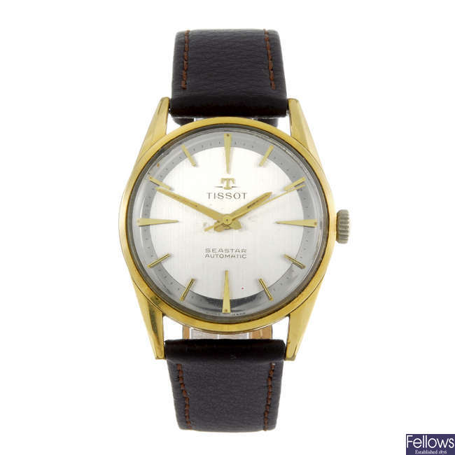 TISSOT - a gentleman's gold plated Seastar wrist watch.