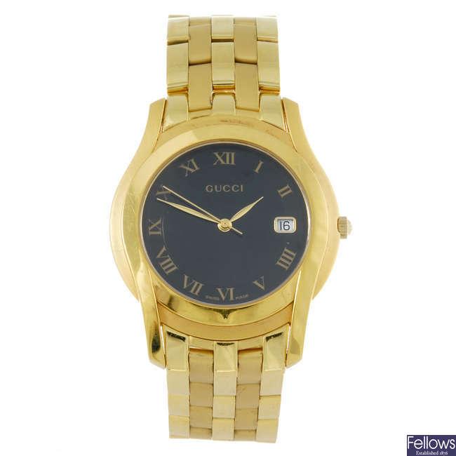 GUCCI - a gentleman's bracelet watch.
