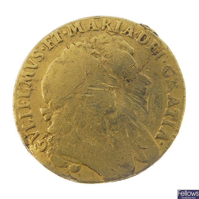 William and Mary, Guinea 1690.