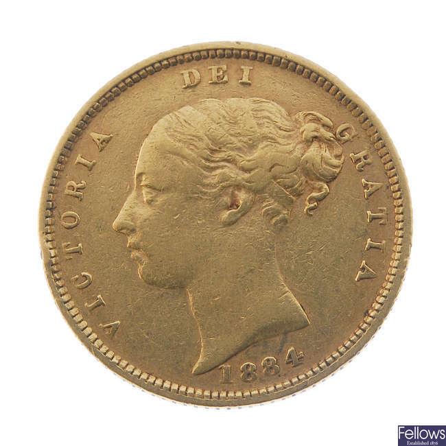 Victoria, Half-Sovereign 1884.