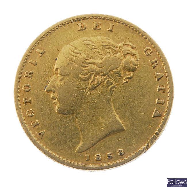 Victoria, Half-Sovereign 1858.
