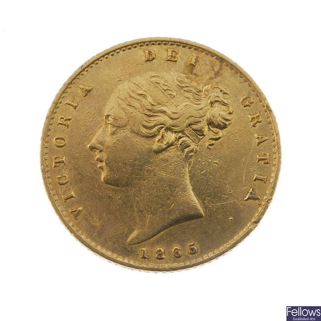 Victoria, Half-Sovereign 1865.