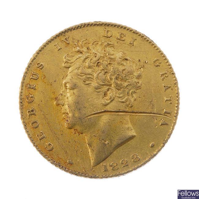 George IV, Half-Sovereign 1828.
