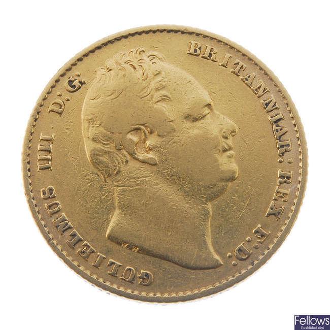 William IV, Sovereign 1837.