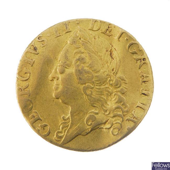 George II, Half-Guinea 1748.