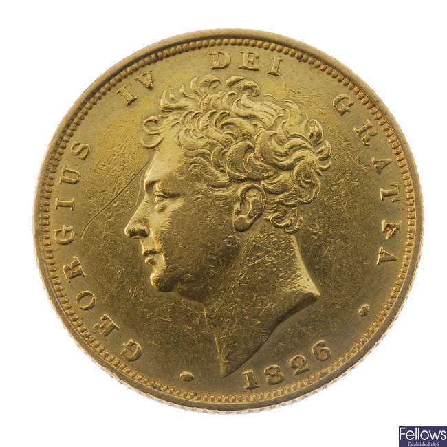 George IV, Sovereign 1826.