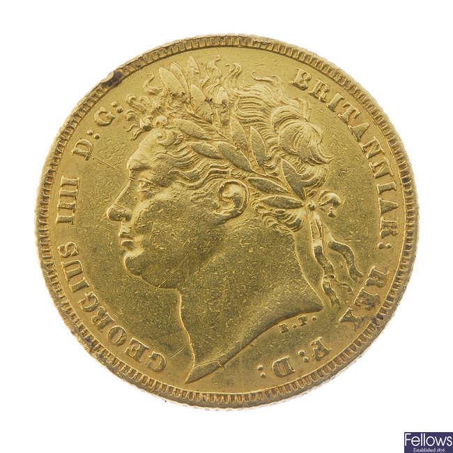 George IV, Sovereign 1822.