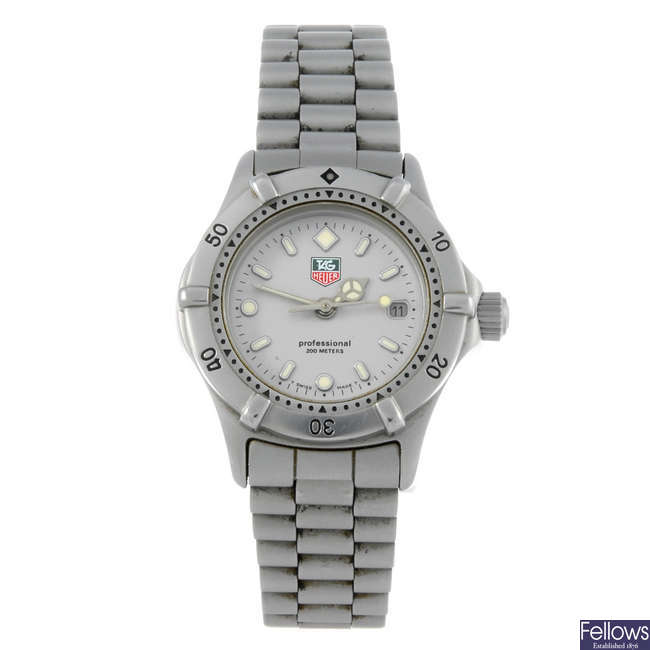 TAG HEUER - a lady's stainless steel 2000 Series bracelet watch with a lady's Omega Dynamic watch
