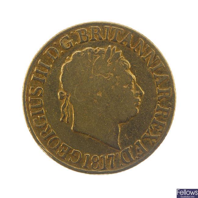 George III, Sovereign 1817.