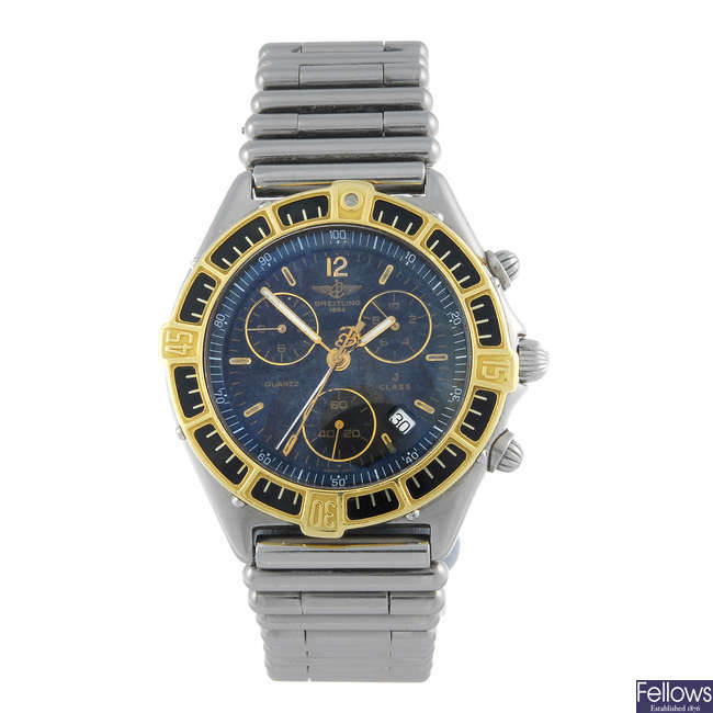 BREITLING - a gentleman's bi-metal J-Class chronograph bracelet watch.