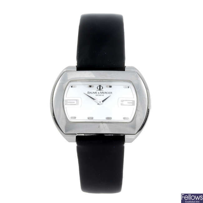 BAUME & MERCIER - a lady's stainless steel Hampton City wrist watch.