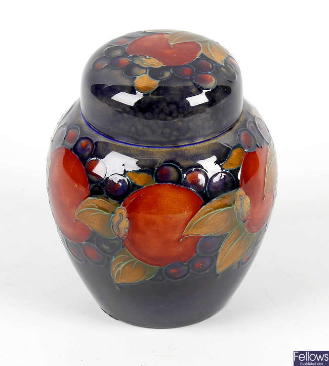 A William Moorcroft pottery Pomegranate and Berry pattern ginger jar