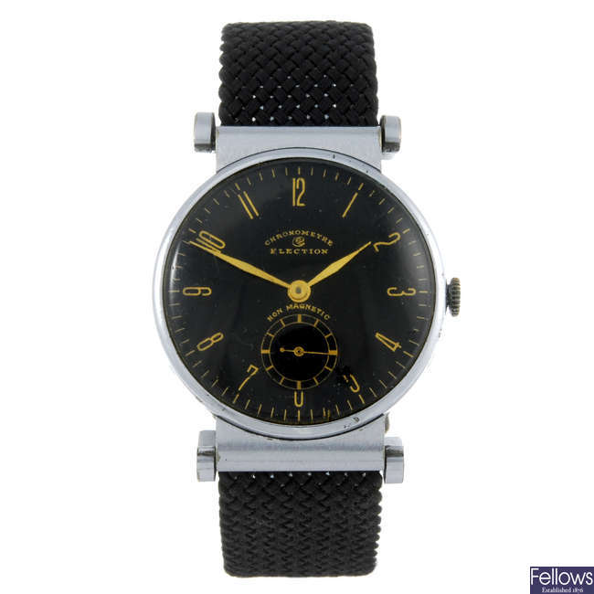 ELECTION - a gentleman's base metal wrist watch with an Otimo watch head and an Aquastar watch head