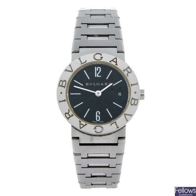 BULGARI - a lady's stainless steel Bulgari bracelet watch.