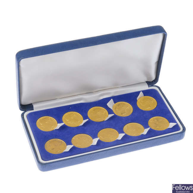 A composite set of ten Victorian Sovereigns.