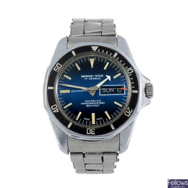 MARINE-STAR - a base metal gentleman's bracelet watch.