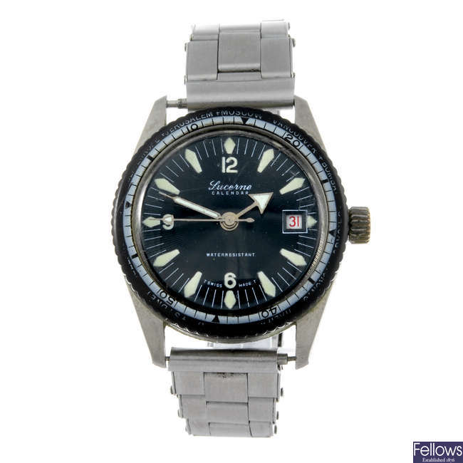 LUCERINE - a gentleman's stainless steel bracelet watch with a gentleman's Pulsar bracelet watch.